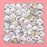 LYDP Paquete de 50 pegatinas de dos flores para equipaje, diseño de emoji, divertidos dibujos animados, impermeables,...
