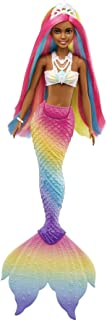 Barbie Dreamtopia Rainbow Magic Mermaid Doll with Rainbow Hair and Water-Activated Color Change Feature, Gift for 3 to 7 Y...