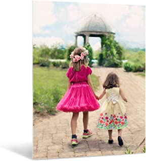 AlumePix Personalized Metal Photo Print with Desktop Easel Mount (5x7) - Great Gifts and Wall Art for Home Décor - Perfect Memory Gift for Mom, Dad, Family or Friends