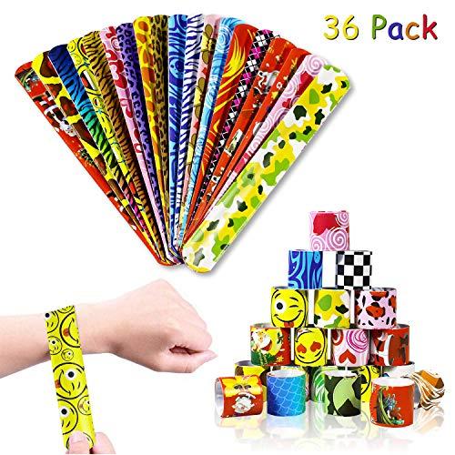 aovowog 36 pcs Bracelets à Claquer Coloré Bracelets Enfants (36 Motifs différents), Bracelets...