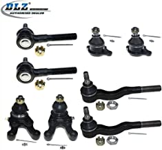 DLZ 8 Pcs Front Suspension Kit-2 Lower 2 Upper Ball Joint 2 Inner 2 Outer Tie Rod End Compatible with 1992 1993 1994 1995 1996 1997 1998 1999 2000 Mitsubishi Montero 1997-2004 Mitsubishi Montero Sport