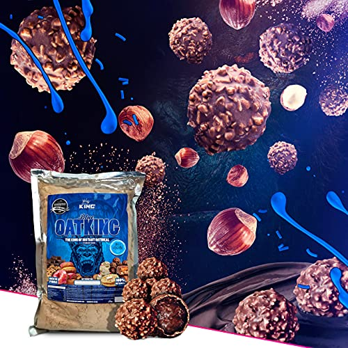 Harina de avena, Oatking, 1kg, OFERTA CUPON-5% !! Harina Integral, harina de sabor, ideal para tortitas, batidos, bizcochos y magdalenas, American Suplement, (BOMBON ROCHER)