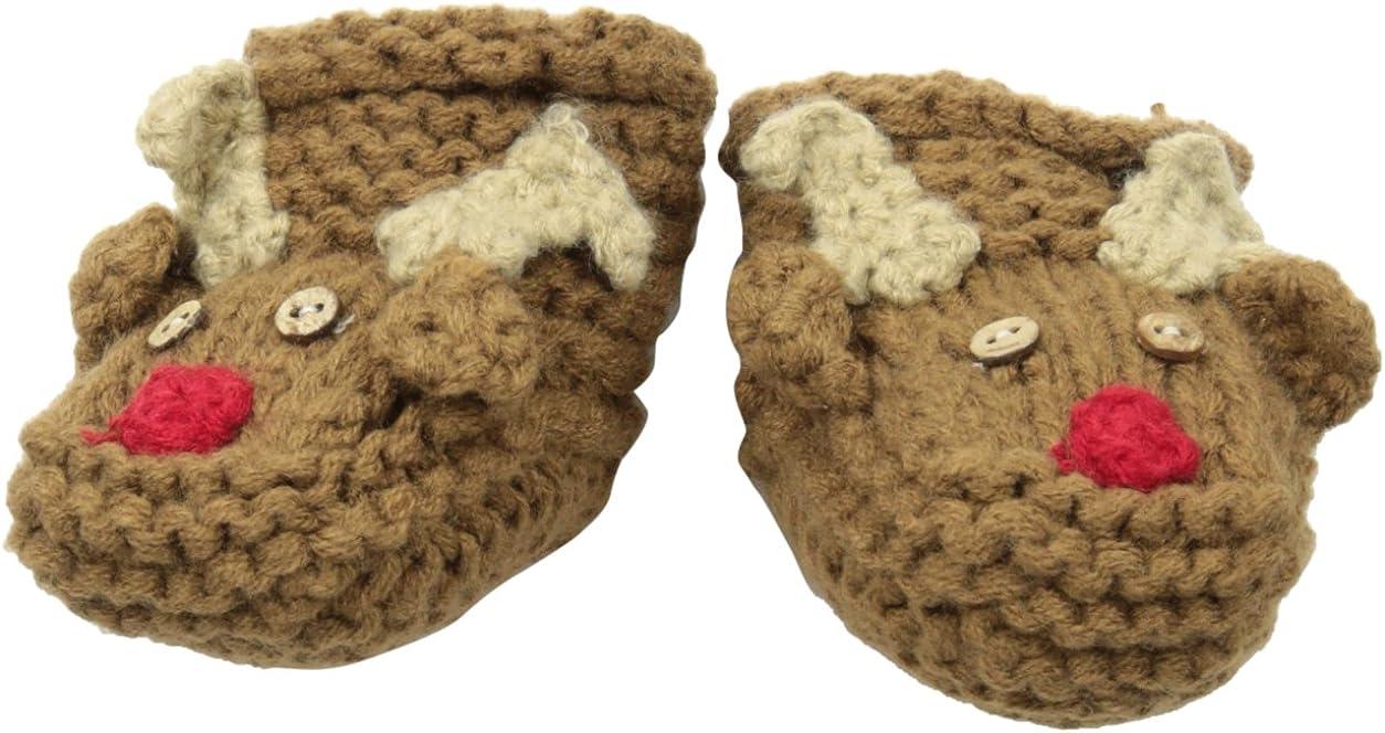 Mud Pie Unisex-Baby Crochet Reindeer Booties