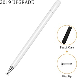 KIMZY ElegantPen Disc Stylus Pen, Fine Point Touch Screen Digital Pencil Compatible for iPad, iPhone, Samsung Note 10, Google Pixel 3 and More Capacitive Smartphones and Tablets