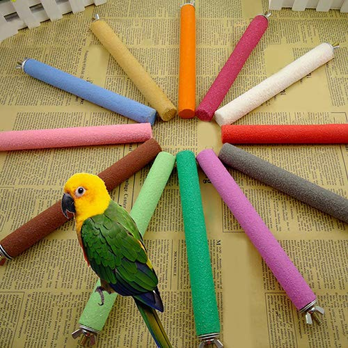 Lai-LYQ Vogel Speelgoed Papegaai kooi, Ruw Oppervlak Hout Poot Slijpen Perch Stand Stick Platform voor Kleine en Medium Sized Vogels, 2cm x 10cm