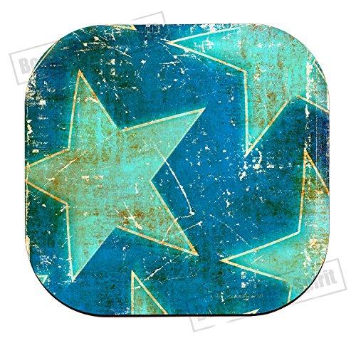 Abstract vintag sterren beste gift drankje beker houder onderzetter MDF Houten Dye placemat