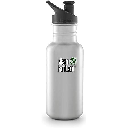 Klean Kanteen Water Bottle, Silver, 18 oz