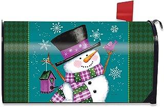 Briarwood Lane Winter Wonderland Snowman Magnetic Mailbox Cover Standard
