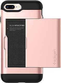 Spigen Slim Armor CS Designed for Apple iPhone 8 Plus Case (2017) / Designed for iPhone 7 Plus Case (2016) - Rose Gold