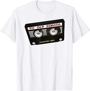 So Old School Cassette Tape T-Shirt Throwback Hip Hop 80's