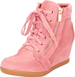 Cambridge Select Women's Lace-Up Fashion Sneaker Wedge