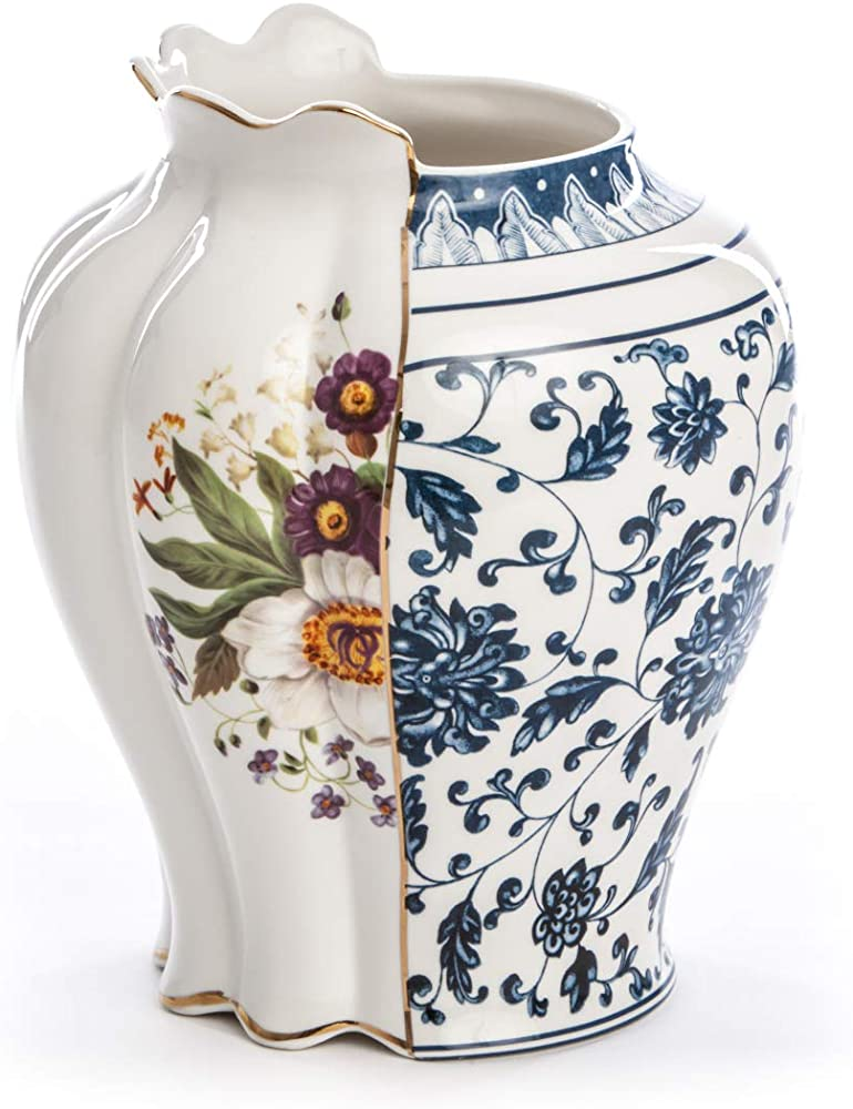 Seletti, vaso in porcellana Ø cm.23 h.26, hybrid-melania 09770