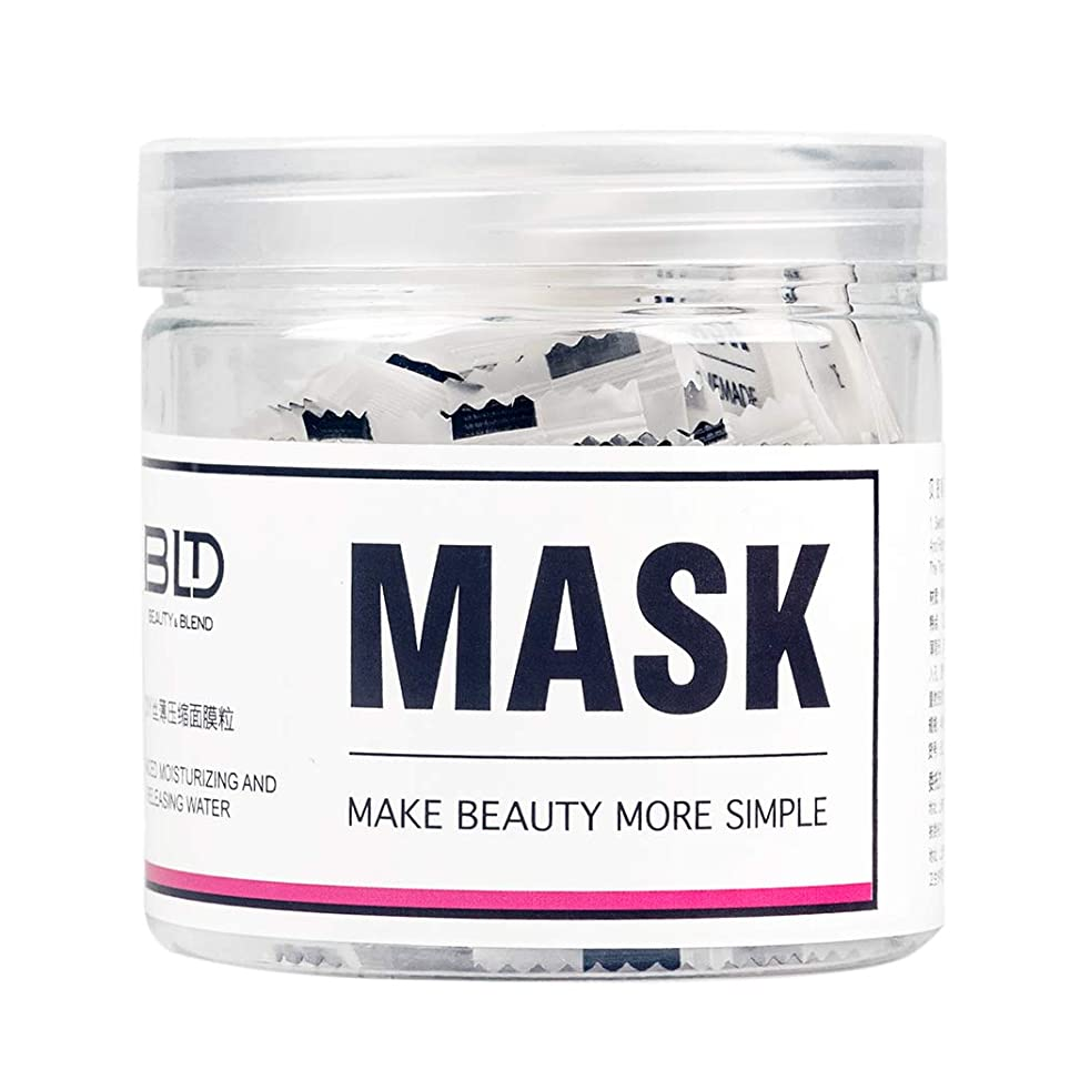 BLD Silky Thin Facial Compressed Mask Paper Tablet Packed with Box Natural Skin Care Wrapped DIY Masks Skin Care 46 pcs