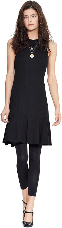 Ralph Lauren Women's Sleeveless Drop-Waist Flare Dress (M) Black