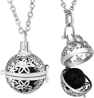 ALUCKY Valentine's Gift Aromatherapy Essential Oil Diffuser Necklace for Women with 24