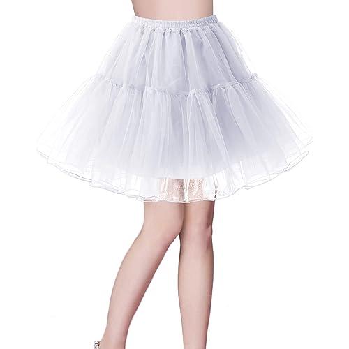 ccb2f5e23a Bridesmay Women's 50s Vintage Petticoat Net Underskirt Retro Short Tutu