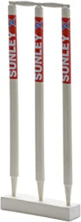 Sunley Wooden Wicket Set for Youth and Senior(3 Piece Wooden wickets,2 Piece bails,1 Piece Base)