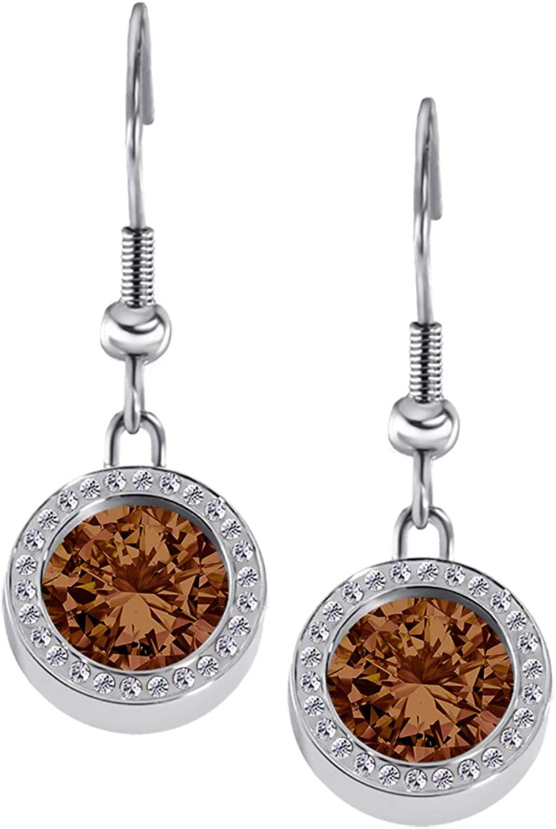 Quiges Women Earrings made of Ranking TOP6 Silver Steel 2021 autumn and winter new Zirconi Stainless