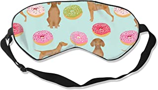 Vizsla Dogs Cute Dog Food Donuts Pastel Cute Funny Silk Sleep Mask Comfortable Blindfold Eye mask Adjustable for Men, Women or Kids