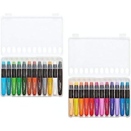 Assorted 24 Piece KINGART Stick Artist Watercolor Set of 24 Unique Pastel Colors Gel Crayons