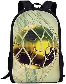 Fútbol 3D Impresión de fútbol Niños Mochilas Escolares Estudiantes de Primaria Mochilas Mochilas para niños B