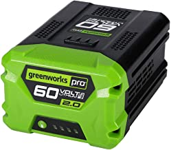 Greenworks Pro 60-Volt Max 2-Amp Hours Rechargeable Lithium Ion (Li-ion) Cordless Power Equipment Battery