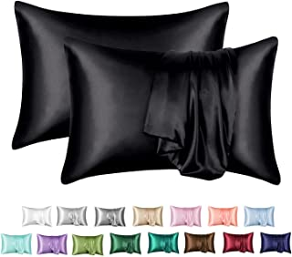 Sponsored Ad - MR&HM Satin Pillowcase for Hair and Skin, Silk Satin Pillowcase 2 Pack, Queen Size Pillow Cases Set of 2, S...