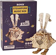 ROKR 3D Puzzle Steam Punk Music Box Models Kits to Build Bunny