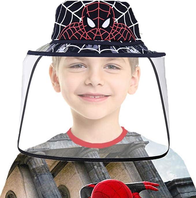 Black Ver Chiefstore Face Shield Visor Mask Full Face Safety Shield Protective Cap Kids Anti-saliva Spider Fisherman Hat