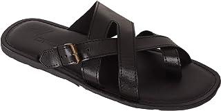 VONZO Men Black Stylish Slip On Sandal Chappal