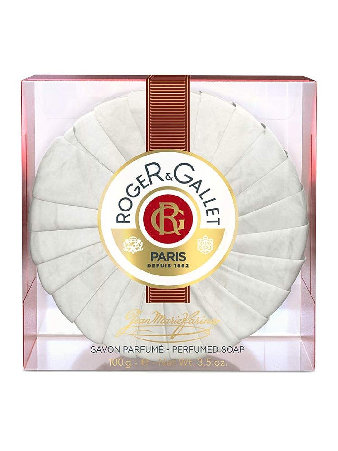 気を散らす上院モールロジェガレ ジャンマリファリナ パフュームソープ (香水石鹸) 100g ROGER&GALLET JEAN MARIE FARINA SOAP(プラスチック簡易ケース入り) [並行輸入品]