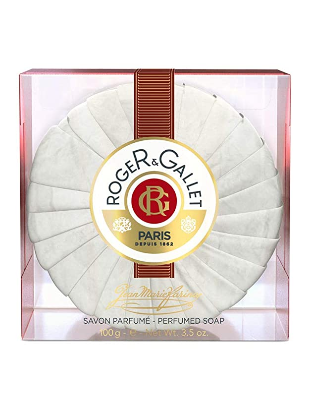 縁石チャップ保安ロジェガレ ジャンマリファリナ パフュームソープ (香水石鹸) 100g ROGER&GALLET JEAN MARIE FARINA SOAP(プラスチック簡易ケース入り) [並行輸入品]