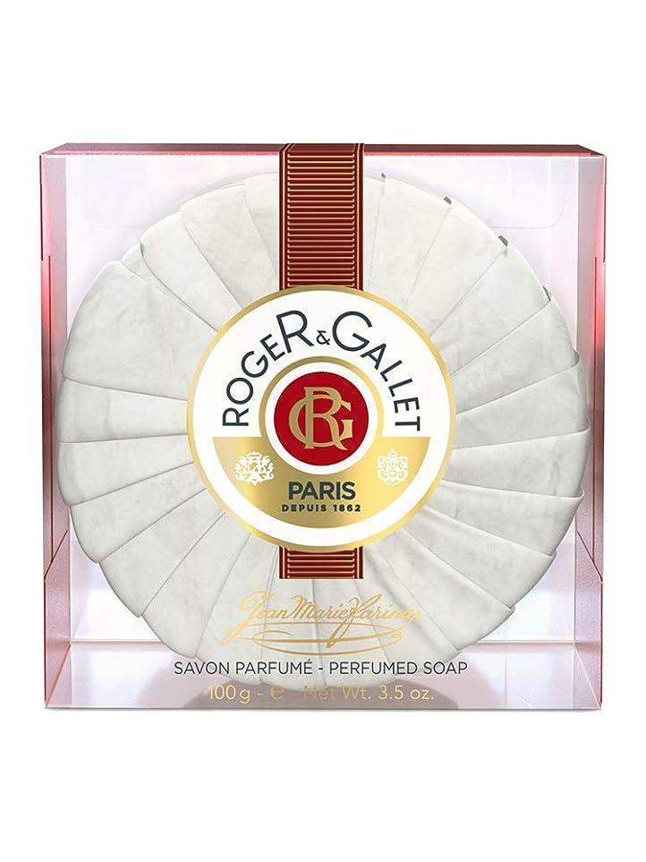 画家抽選角度ロジェガレ ジャンマリファリナ パフュームソープ (香水石鹸) 100g ROGER&GALLET JEAN MARIE FARINA SOAP(プラスチック簡易ケース入り) [並行輸入品]