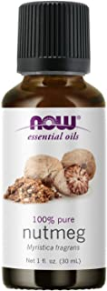 NOW Essential Oils, Nutmeg Oil, Energizing Aromatherapy Scent, Steam Distilled, 100% Pure, Vegan, Child Resistant Cap, 1-O...