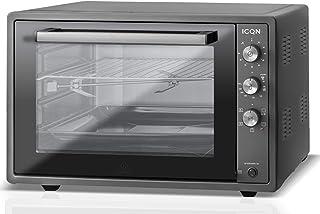 ICQN 70XXL Mini-Four | 1800 W | Four a poser avec chaleur tournante , 5 fonctions | Four à pizza | Double vitrage | Minute...