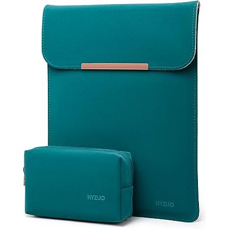 HYZUO 13 Pollici Laptop Custodia Borsa Sleeve PC Portatile Compatibile con MacBook Air 13 M1 2018-2021/MacBook Pro 13 M1 2016-2021/Dell XPS 13/Surface Pro X 7 6 5 4/iPad Pro 12,9 2021, Verde scuro