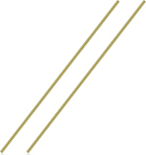 3/16 Inch Brass Round Rod, Favordrory 2PCS Brass Round Rods Lathe Bar Stock, 3/16 Inch in Diameter 14 Inch in Length