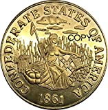Exquisite Collection of Commemorative Coins United States 1861 Confederate States of America CSA $20 Dollars Brass Metal Gold Coin Copy Coins Edeg Plain It s Handmade Crafts Best Product