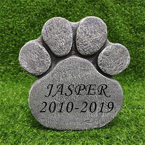La pestaña es un monumento de piedra para cachorros de animales o lápidas de piedra gato, gris (puede ser al por mayor, al por mayor más descuento)