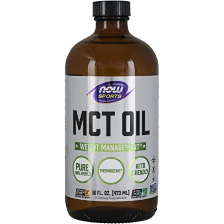 NOW Sports Nutrition, MCT (Medium-chain triglycerides)Oil 14 g, Weight Management, Liquid, 16-Ounce