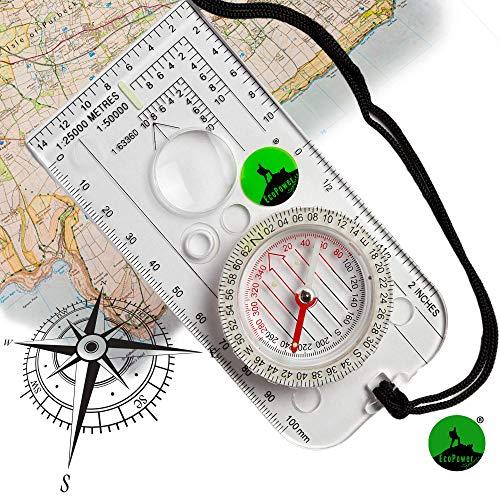EcoPower - Brújula de Navegación Deportiva para Expedició