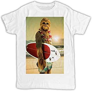 Cool Funny Chewbacca Surfing Poster Cool Tshirt Poster Ideal Gift Birthday Present Unisex Mens Tshirt