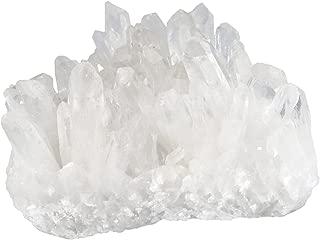 mookaitedecor Natural Clear Quartz Crystal Cluster Mineral Geode Druzy Specimen, 0.55lb-0.88lb