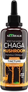 Naturealm Chaga Mushroom Extract - Wild-Harvested in Alaska - Potent Dual Extraction - Super Antioxidant, Immune Support, ...