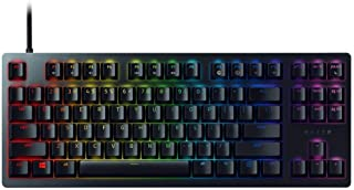Razer Huntsman Tournament Edition TKL Tenkeyless Gaming Keyboard: Linear Optical Switches Instant Actuation - Customizable Chroma RGB Lighting, Programmable Macro Functionality - Matte Black (Renewed)