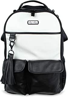 Itzy Ritzy Diaper Bag Backpack – Large Capacity Boss Backpack Diaper Bag Featuring Bottle Pockets, Changing Pad, Stroller Clips and Comfortable Backpack Straps, Black and White