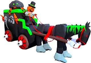 halloween inflatable carriage hearse