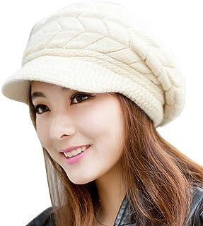 ABC® Women Fashion Hat Winter Skullies Beanies Knitting Hats Rabbit Fur Cap