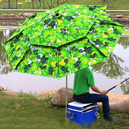 PARASOL Fishing Umbrella Windproof/waterprool/Portable Tilt and Telescoping Pole/Sand Anchor Sturdy Umbrella, use for Beach/Lawn/Back Yard/Patio/Park/shadezilla/Outdoor Travel/Garden CMXZ