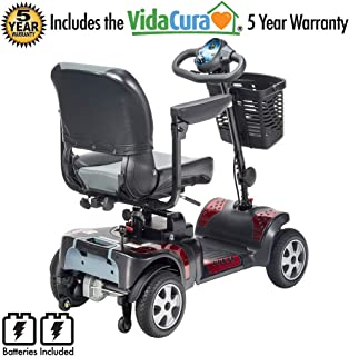 """Phoenix 4 Wheel Heavy Duty Scooter by Drive Medical, 20"""" Wide Seat Includes 5 Year Protection Plan"""